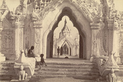 South entrance to the Koo-thoo-daw, or Royal Merit House, [Kuthadaw Pagoda Mandalay]